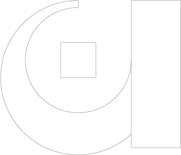 ASTI Sérigraphie : A du logo d'ASTI Sérigraphie en contours seuls façon dessin technique industriel